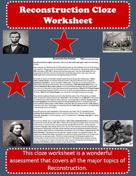 Reconstruction Cloze Review Worksheet