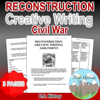 Reconstruction Creative Writing Assessment & Rubric (U.S. History)