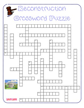 reconstruction crossword puzzle by larock 39 s lessons tpt. Black Bedroom Furniture Sets. Home Design Ideas