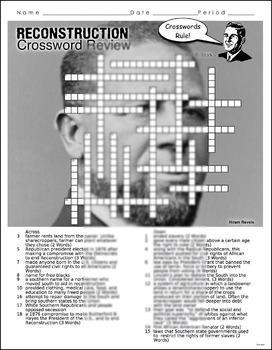 Reconstruction Crossword Puzzle Review