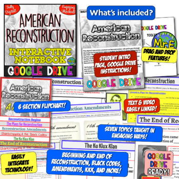Reconstruction DIGITAL Interactive Notebook! Google Drive for Reconstruction!