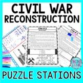 Civil War Reconstruction ESCAPE ROOM: Post Civil War, Lincoln, Andrew Johnson