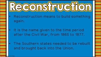Reconstruction: Effects on American Life