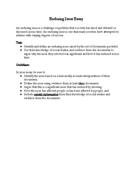 Reconstruction Enduring Issue Essay By The Social Studies Place