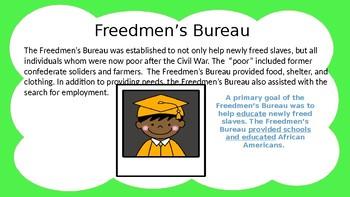 Reconstruction Era: Freedmen's Bureau, Jim Crow Laws, & Amendments