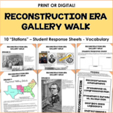 Reconstruction Era - Gallery Walk - GSE SS8H6 - Georgia Studies