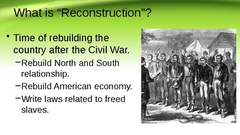 Reconstruction Era PPT