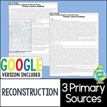 Reconstruction Era Primary Sources, US Reconstruction Primary Documents