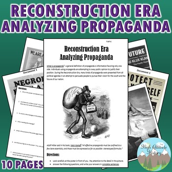 Reconstruction Era Propaganda Analysis Activity