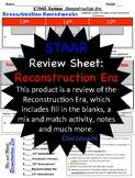 Reconstruction Era, STAAR Review Sheet