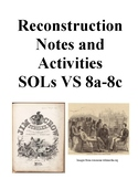 Reconstruction Era in the US: Notes and Activities: Virginia Studies SOLs 8a-8c