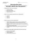 Reconstruction Exam