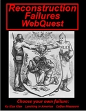 Reconstruction Failures Webquest (KKK, Lynching, and Colfa