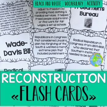 Reconstruction Flash Cards - Black and White