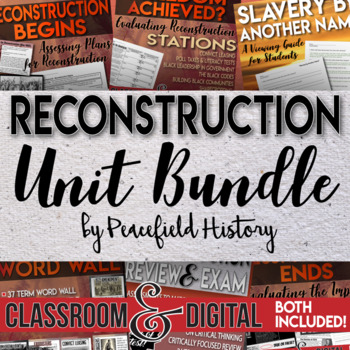 Reconstruction Full Unit Bundle Engaging Student Centered Activities