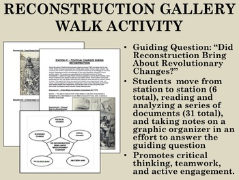 Reconstruction Gallery Walk Activity - USH/APUSH