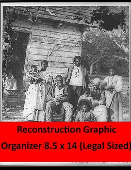 Reconstruction Graphic Organizer: Legal Size!   With Questions & key