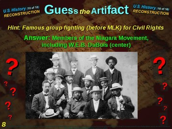 """Reconstruction """"Guess the Artifact"""" game with pictures & clues (10 of 10)"""