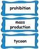Reconstruction-Industrial Revolution Word Wall