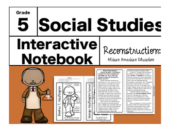 Reconstruction Interactive Notebook-African American Education