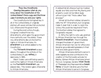 Reconstruction Interactive Notebook-Three New Amendments