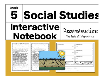 Reconstruction Interactive Notebook-The Tests of Independence