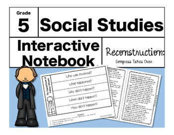 Reconstruction Interactive Notebook-Congress Takes Over