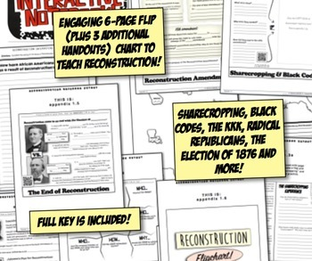Reconstruction Interactive Notebook! Engaging Resource on US Reconstruction!