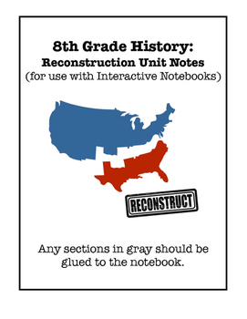 Reconstruction Interactive Notebook Foldable Files