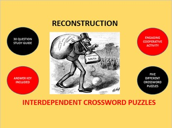 Reconstruction: Interdependent Crossword Puzzles Activity