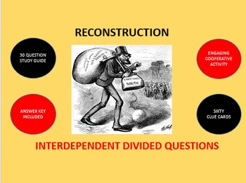 Reconstruction: Interdependent Divided Questions Activity