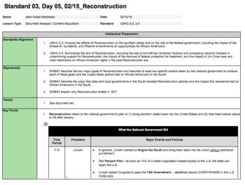 Reconstruction (LP + Docs + PPT + Charts)