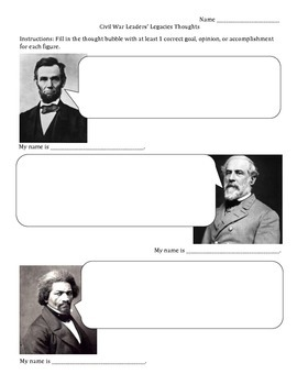 Reconstruction Leaders Guided Notes Sheet