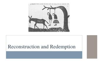 Reconstruction Lesson Plan Part 2, Visuals, Discussion Questions