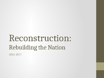 Reconstruction PPT