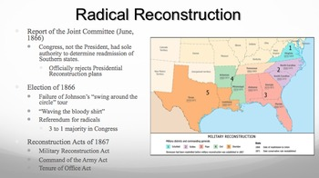 Reconstruction PPT - APUSH New Framework - Period 5