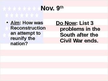 Reconstruction Part 1 PowerPoint
