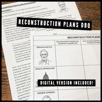 Reconstruction Plans DBQ