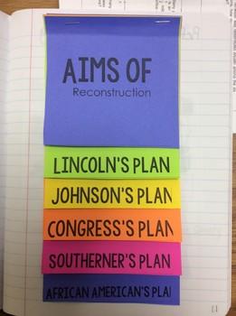 *EDITABLE* Reconstruction Plans Flipbook
