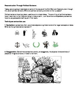 Reconstruction - Political Cartoons