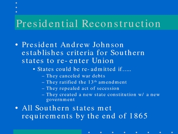 Reconstruction Power point presentation