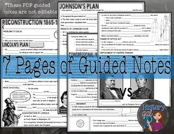Reconstruction PowerPoint & Guided Notes