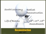 Reconstruction PowerPt1: Civil War, blacks,Jim Crow Law,Scalawags & Carpetbagger