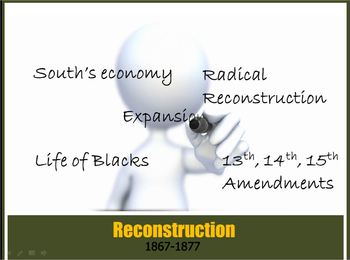 Reconstruction PowerPt1: Civil War, blacks,Jim Crow Law,Sc