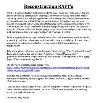 Reconstruction RAFT's