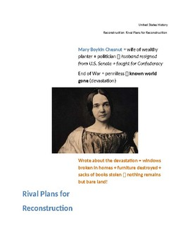 Reconstruction:  Rival Plans for Reconstruction (Cornell Notes)