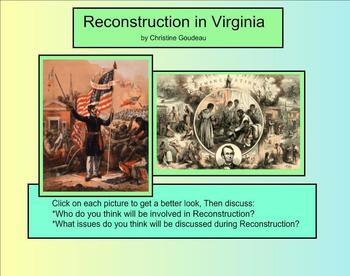 Virginia Studies SMARTboard Lesson - VA in the Reconstruction Era - SOL VS.8