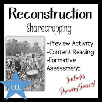 Reconstruction Sharecropping Activity