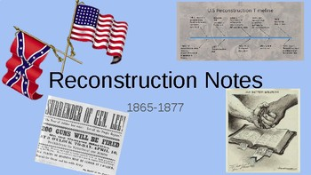 Reconstruction Slideshow Notes