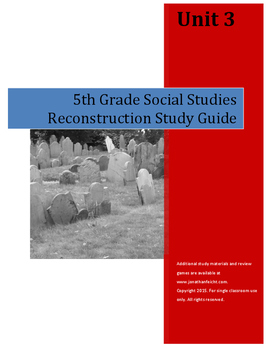 Reconstruction Study Guide